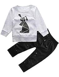 Cartoon Imprimer T-shirt Tops + Pantalons - Yogogo Vêtements Ensembles - Tenues - Bébé Filles Garçons