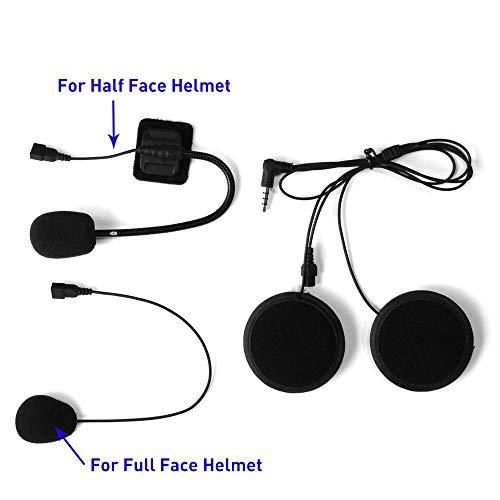 AIJICHE Walkie-Talkie-Headset und Clip-Zubehör für LX-B4FM Bluetooth-Helm Walkie-Talkie Walkie-Talkie-Kopfhöreranschluss Bluetooth Stereo Headset Clip