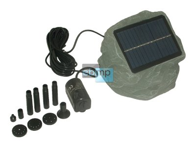 SOLAR-Teichpumpe Teich+Gartenteich-PUMPE Solarpumpe Gartenteichpumpe Gartenpumpe mit Solar-Stein für den Garten