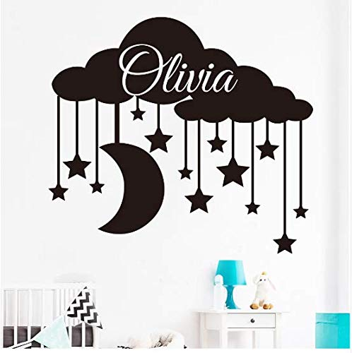 Liushop.co Top Fashion Real Für Wand Für Rauchabzug Für Kabinett Herd Wandaufkleber Sterne Mond Cartoon Wandaufkleber 58 * 65 cm - Herd-bereich Tops