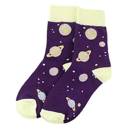 Modello Planet Socks Medio Cut Caviglia Il Colpo violento del Fumetto Calza Soxs per Ragazzi Ragazze 1 Paio