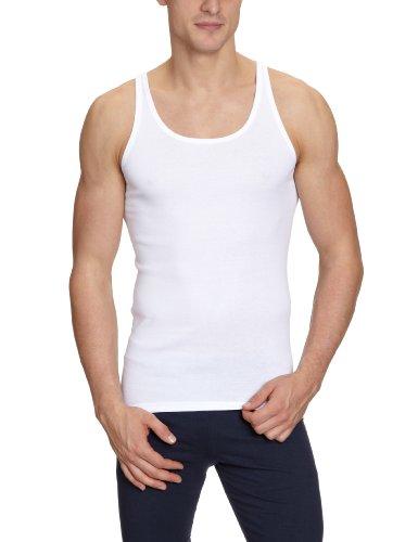 Schiesser Herren Unterhemd 005120-100, Gr. 6 (L), Weiß (100-weiss)