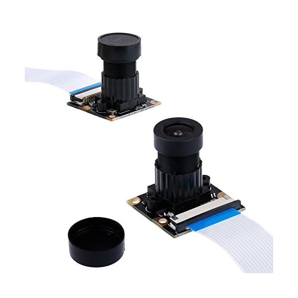 41lz1q5qIcL. SS600  - Zacro Módulo de Cámara con Sensor Cámara de Vídeo de HD Soporte Visión Nocturna para Raspberry Pi 3 Modelo B B + A + RPi 2 1 Cámara SC15