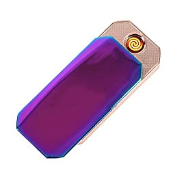 Generic Silent Polygon USB Lighter Rechargeable Electronic Cigarette Lighter- Multicolor