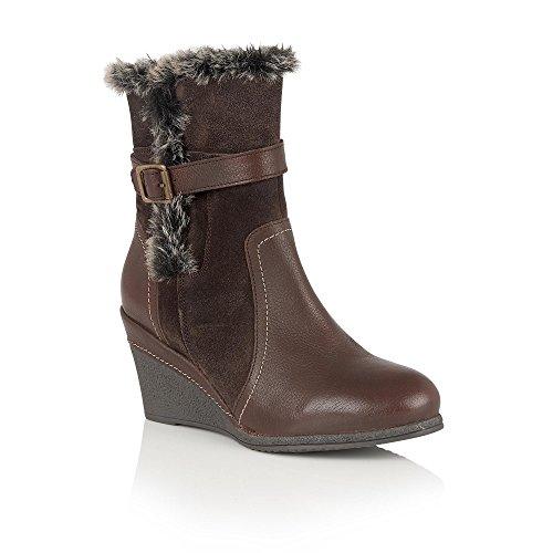 Lotus Varda Brown Leather Mid-Calf Boots 4
