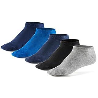 10 Paar Sneaker Socken von Mat & Vic's für Sie und Ihn | Cotton classic (43-46, Jeans - blau, grau, schwarz) | 35 36 37 38 39 40 41 42 43 44 45 46 47 48 49 50 | OEKO-TEX Standard 100