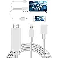 Cellulare a HDMI, AMANKA Full HD 1080P Mirroring Cavo Adattatore ad Phone MHL a HDMI HDTV, Compatibile con CellPhone, Telefono Android