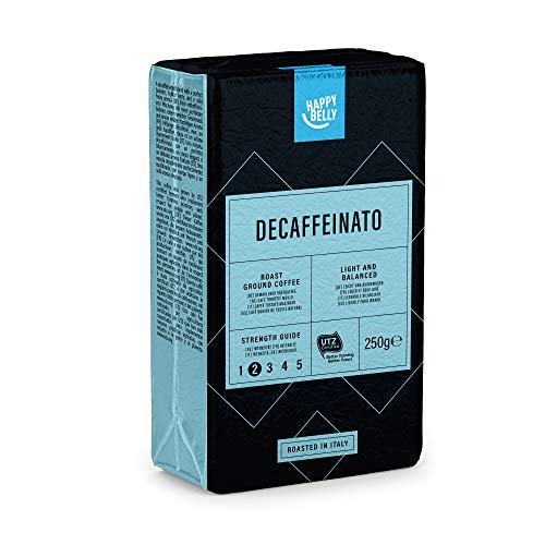 "Marca Amazon - Happy Belly Café molido descafeinado ""Decaffeinato"" (4 x 250g)"