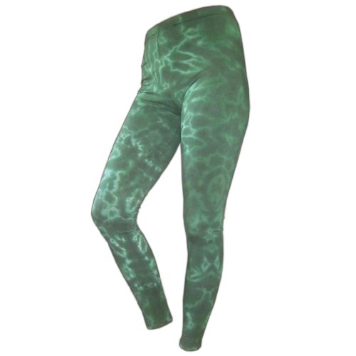 Leggings: Batik, in Dunkelgruen (5 X L-dunkelgrün)