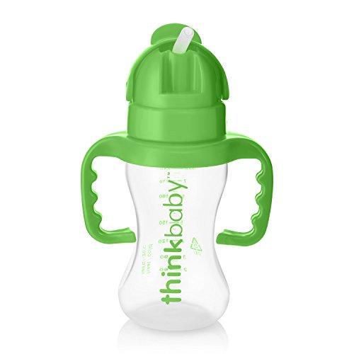 Thinkbaby Thinkster Stroh Flasche, hellgrün/grün, 9Unze