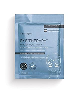 BeautyPro EYE THERAPY collagen under eye mask with green tea extract (3 Applications)