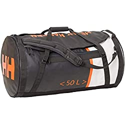 Helly Hansen HH Duffel Bag 2 Bolsa de Viaje, Unisex Adulto, Grey (Ebony/Orange/White), S (50 litros)