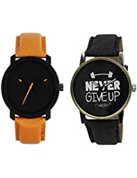Shocknshop New Collection Festive Season Special Black Round Shapped Dial Brown Leather Strap Party Wedding |...