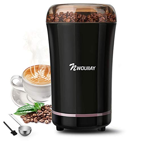 NWOUIIAY Molinillo de Café Eléctrico 300W Capacidad 100gr Molinillos de Especias Semillas Frutos Secos...