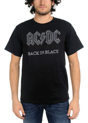 AC/DC - Camiseta - Hombre de color Negro de talla X-Large - Official ACDC T Shirt AC DC AC/DC Back In Nero Logo XL