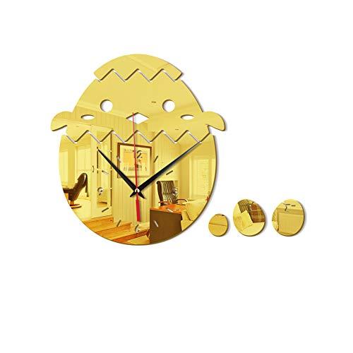 Goldene dreidimensionale Acrylspiegel Wand Paste Borduhr Inneneinrichtung 28 X 37CM