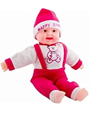 theperfectbazaar Happy Baby Musical Touch Sensors and Laughing Boy Doll (Small, Multicolor, 35 cm)