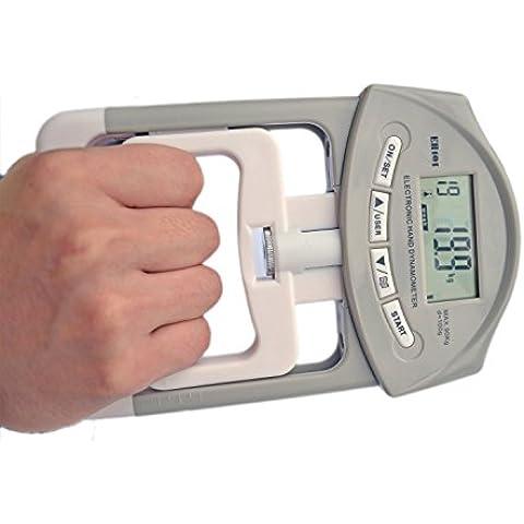 Deyard electrónica dinamómetro la fuerza de agarre de la mano del medidor 90 kg / 200 lbs Margen de capacidad
