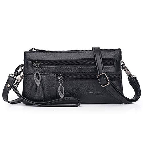 Borsa della frizione da donna borsa da polso in vera pelle portafoglio da polso mini borsa a tracolla borsa per cellulare crossbody borsetta clutch portafoglio con tracolla cinturino da polso katloo