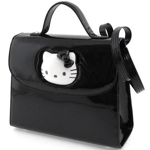Petit sac à main Hello Kitty Glossy noir By Camomilla