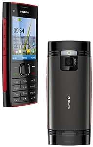 Nokia X2-00 Téléphone portable GSM/GPRS/Bluetooth Noir/Rouge