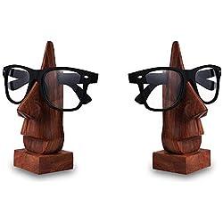 Regalo al padre en la ocasión del día de padre madera Porta Gafas, Gafas Holder, retención Holder gafas, gafas de sol soporte, vasos Holder, pack de 2