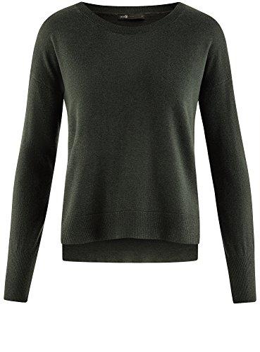 Oodji Ultra Damen Lässiger Pullover Basic Grün (6900N)