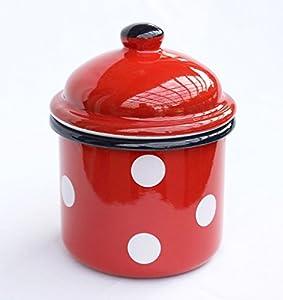 stockageétain 501Z étain 15cm émaillée Vintageboîte de farine émail Teaétain Pot de caféeétain