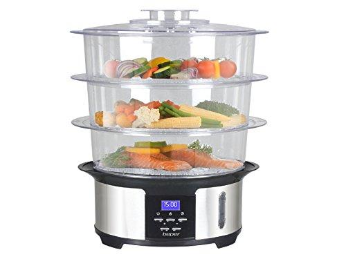 Beper 90541.0 - Cocina al vapor 12 L, 1000 W