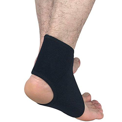 Knöchel-Sleeve, 2Stück, Schwarz, verstellbar, Sport-Bandage Stabilizer-Wrap-Ball, Laufen, Fitness M (39-41) (Schaumstoff-bälle 36)