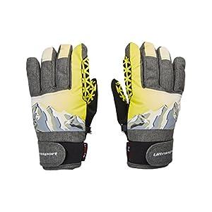Ultrasport Ski Kinderhandschuhe Rocky, flexibler Finger-Handschuh für Kinder mit viel Bewegungsfreiheit, wasserbeständig, winddicht, für 6-14 Jahre