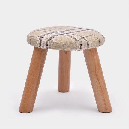 AJZXHE Tabouret de Table Basse Tabouret de Mode Tabouret en Bois Massif Chaussure Créative Tabouret Tissu canapé Tabouret (Farbe : A)