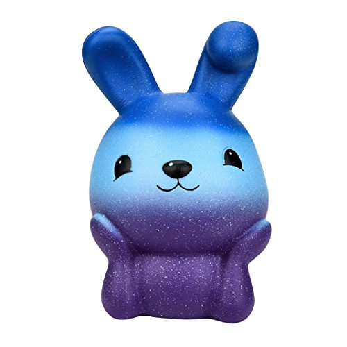 Squishys Squishies,Hansee 16cm Squishy Easter Galaxy Bunny Scented Slow Rising Squeeze Collect Easter Gift (Robbe Puppe)