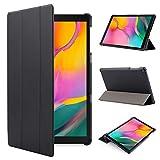 iHarbort Hülle Cover kompatibel mit Samsung Galaxy Tab A 10.1 Zoll (2019 veröffentlicht SM-T510 / T515) - Ultra dünn Etui Schutzhülle Case Holder Stand (Schwarz)