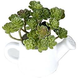 Igemy Seide Blume fleischig Garten Pflanze grüne Schneeglöckchen Mini Büro künstliche Dekor (A)