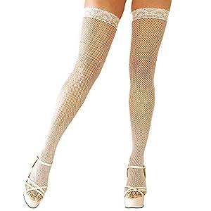 WIDMANN?calcetines de red 2-en-1Zapatillas para mujer, Color blanco, Talla única, vd-wdm4743W