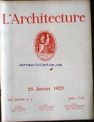 ARCHITECTURE (L') [No 2] du 25/01/19...