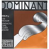 Cordes Thomastik Violon Dominant Noyau plein nylon Sol Argent filé. 4/4; Moyen