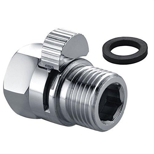 kinxor massivem Messing Dusche Flow Control Ventil Shut Off Schalter G1/2Für Kopfbrause, Handbrause, oder Bidet Spritze poliert chrom -