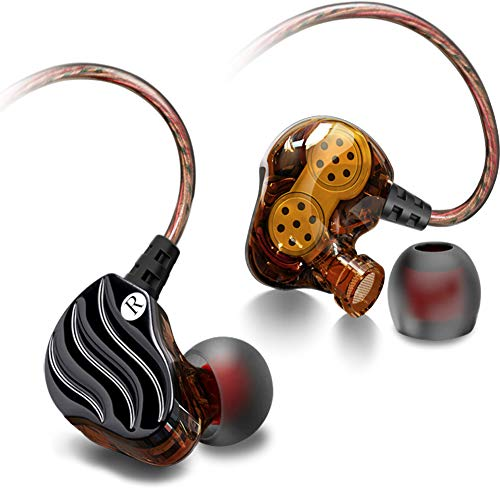 Yaobuyao Headset mit In-Ear-Funktion, geräuschisolierendem In-Ear-Ohrhörer-Player und 3,5-mm-Audiogerät,Black -