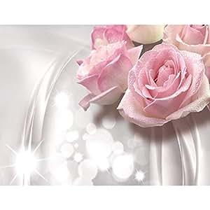 tapisserie photo roses de fleurs 352 x 250 cm laine papier peint salon chambre bureau couloir. Black Bedroom Furniture Sets. Home Design Ideas