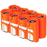 Orange , Holds 8 Batteries : Storacell By Powerpax CR123 Battery Caddy, Orange, Holds 8 Batteries