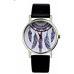 Beautiful Watches , Unisex Watches Bohemia Female Watches Dream Maker Dreamcatcher Feather Wrist Watches