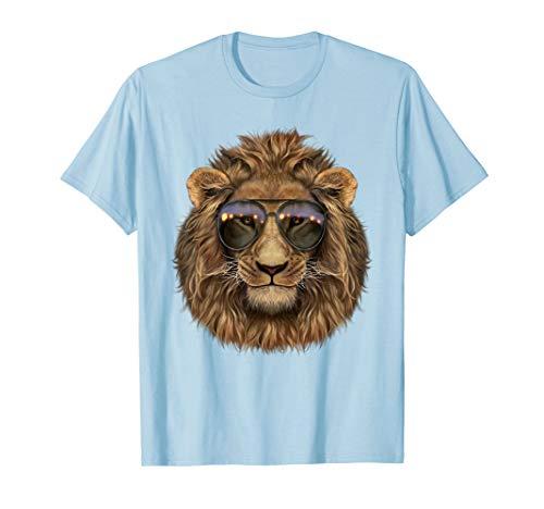 Löwe, der Swag Aviator Sonnenbrille Trägt - T-Shirt
