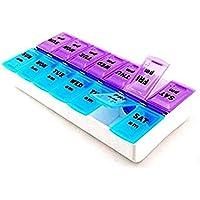 Namgiy Tablet Pille Box Pille Fall Medizin Organizer Container 14Separate Fächer 7Tage Box preisvergleich bei billige-tabletten.eu