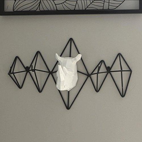 GAODUZI Kreative Wand hängen massiv Holz Kleiderbügel, Schlafzimmer Wohnzimmer nach der Tür Kleiderhaken (Kleiderhaken An Der Tür)