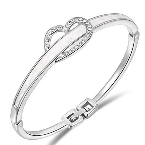 SaySure - 14k Gold plated bracelets Platinum Sincerely (Apatite Strand)