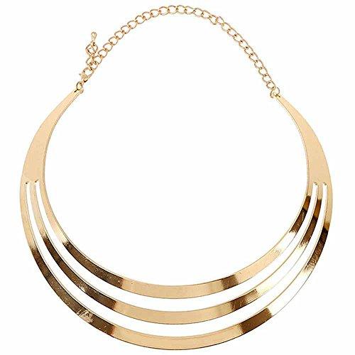 Choker Halskette Kette Frauen Metall Statement Modeschmuck Silber Gold (Gold)