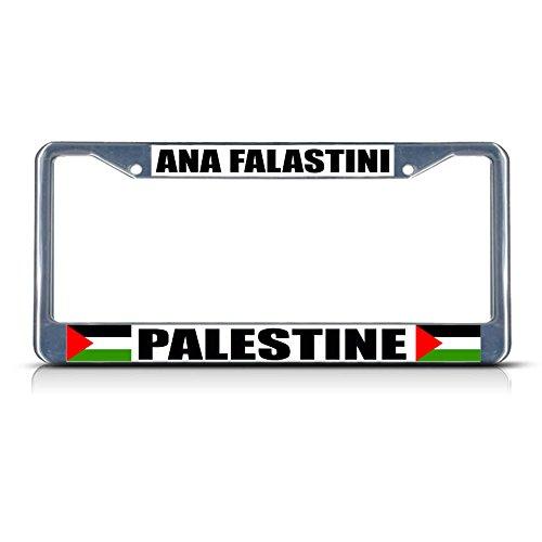 ANA FLASTINI Palästina paletinisches Land Metall Kennzeichenrahmen Kennzeichenrahmen Bordüre perfekt für Männer Frauen Auto Garadge Dekor