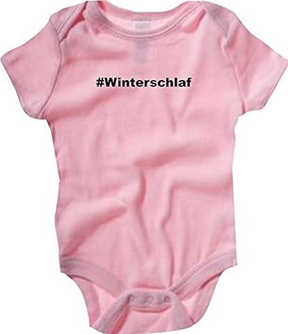 Baby Body; #Winterschlaf; Farbe Rosa; Größe 18-24 Monate